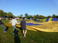 从拉伸气球气球帆膨化