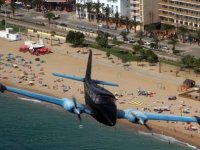 Plane on the beach