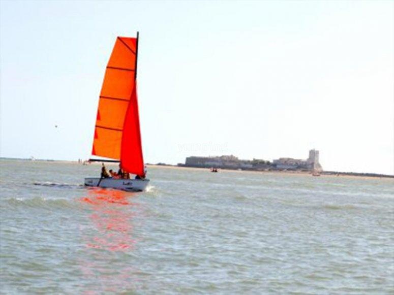 Navegando en Sancti Petri