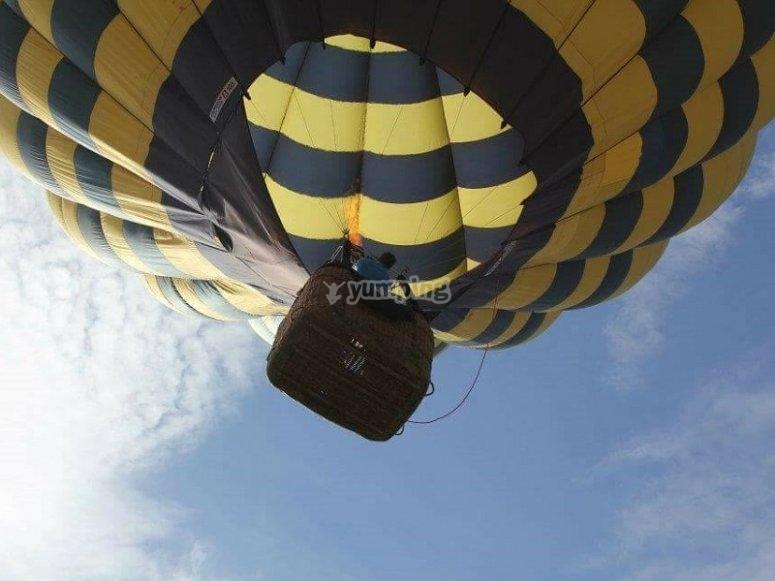 Flight experience on a hot air balloon
