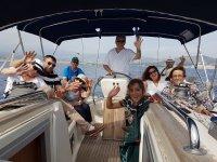 Paseando en el barco desde Motril