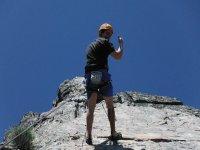 Descenso en rappel en la escalada