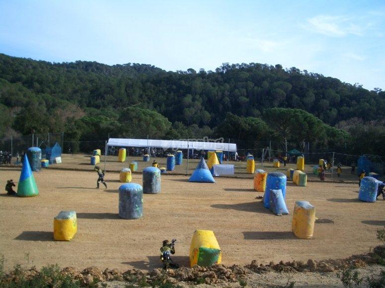 Speedball field