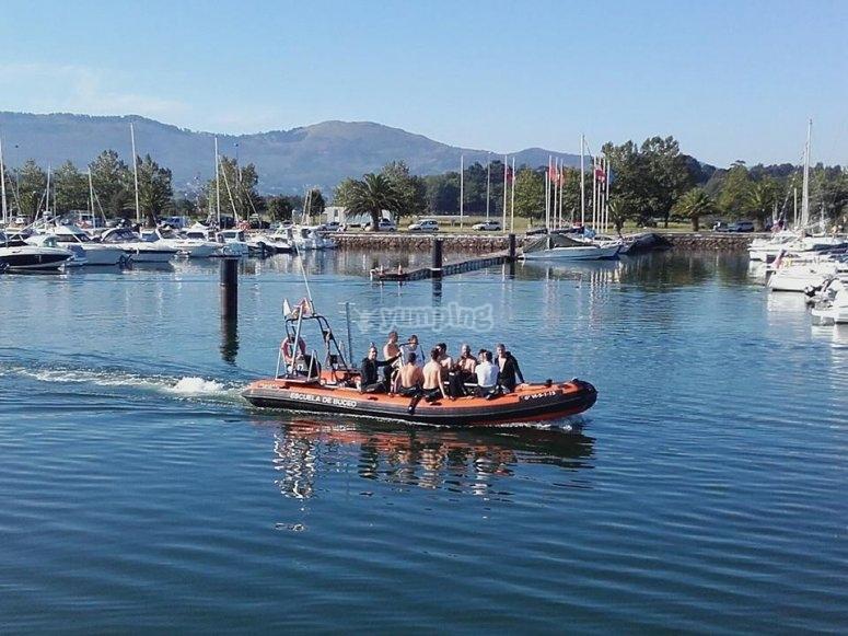 Gita in barca a Santander