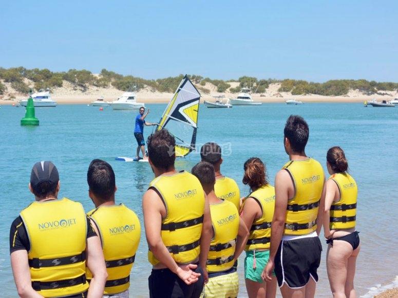 冲浪学生圣彼得学习