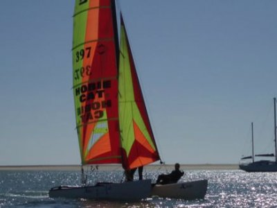 Aprender a navega en catamarán en Sancti Petri 1 h