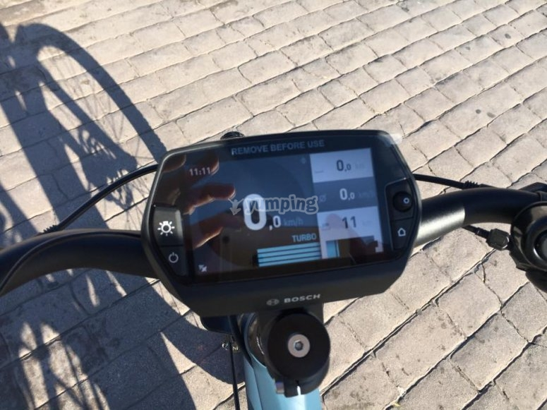 Bici electrica con GPS