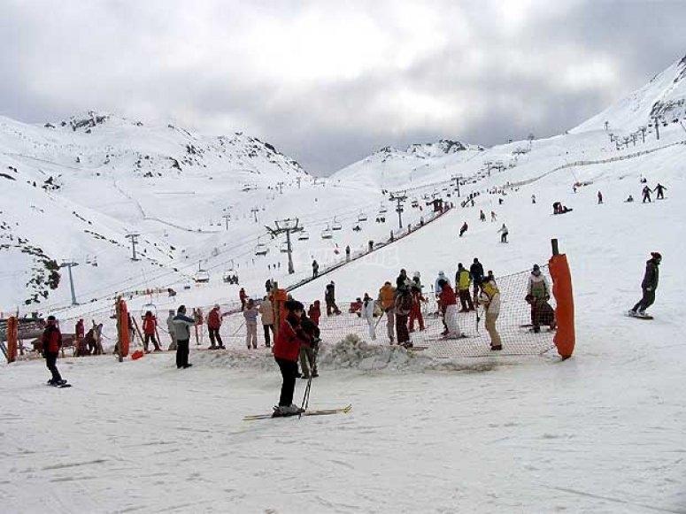滑雪场滑雪的集体滑雪类别