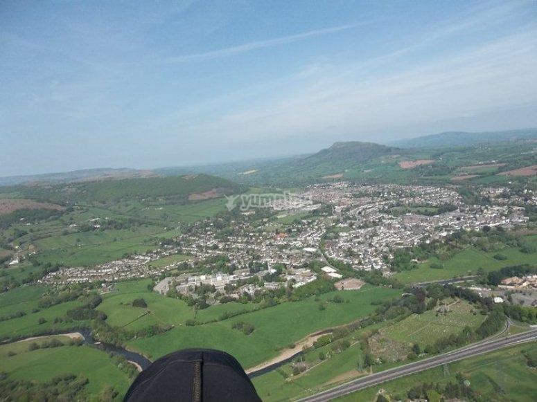 鸟瞰图,滑翔伞