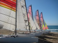 Come to Castelldefels to practice sailing or windsurfing