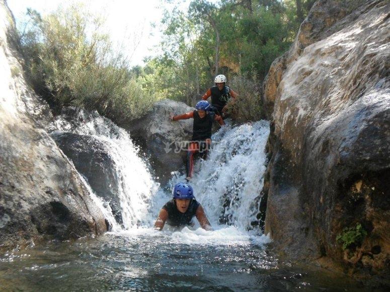 Salto en cascada de Santa Cristina