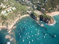 The Costa Brava from the helicopter