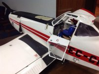 Model airplane and pilot for courses