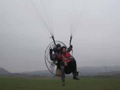 Paramotore a Legarda, Navarra