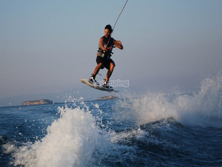 Jumping with the wake