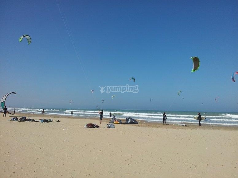Bautismo de kitesurf en Guardamar