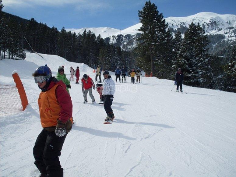 clases colectivas de snow