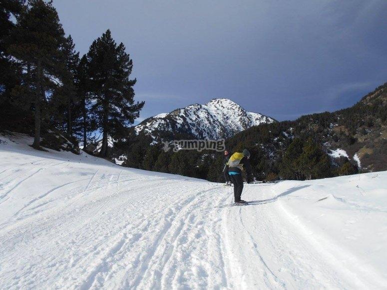 Esqui en un lugar magico