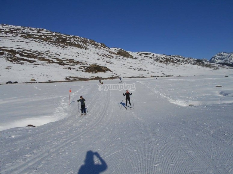 Sesion de esqui