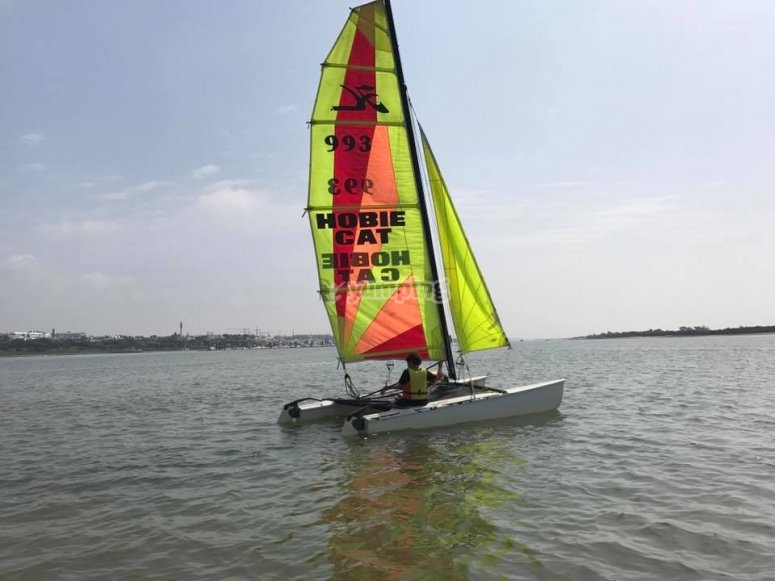 Catamaran sailing course