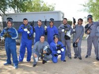 Equipos de paintball preparados