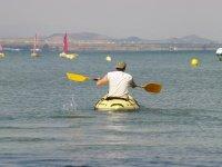 1h One-Seater Kayak Rental, Manga del Mar Menor