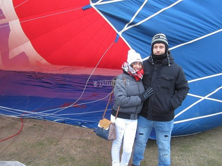 Exclusive balloon flight for couples