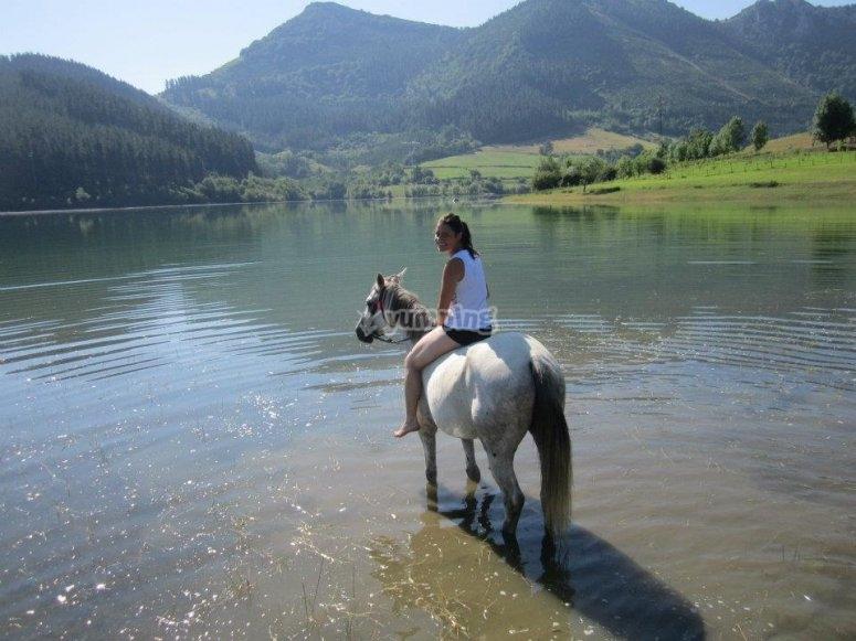 Monta a caballo por Antzuola