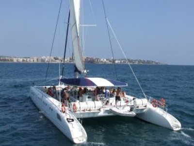 Excursion on a sailing catamaran+BBQ,Tarragona