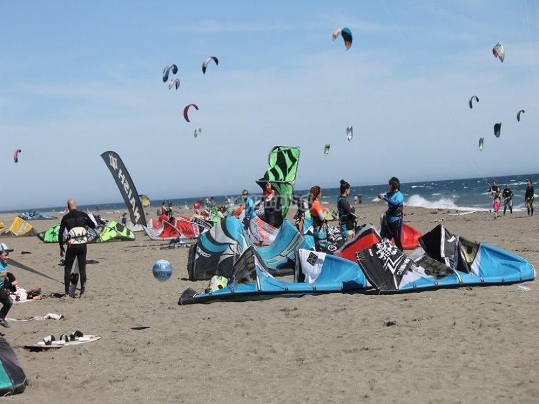 Bautismo de kitesurf en Semana Santa