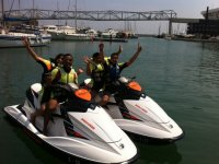 On the jet skis
