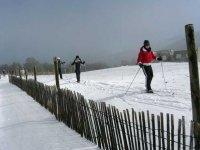 Practicando Esquí de fondo