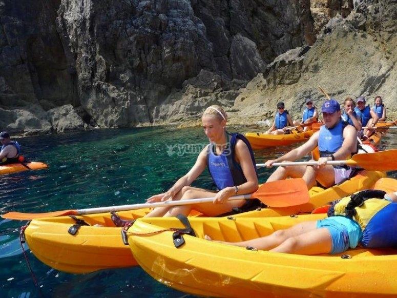 Ruta en el sur de Menorca, en kayak