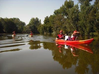 Canoe descent in the river Tormes, Salamanca