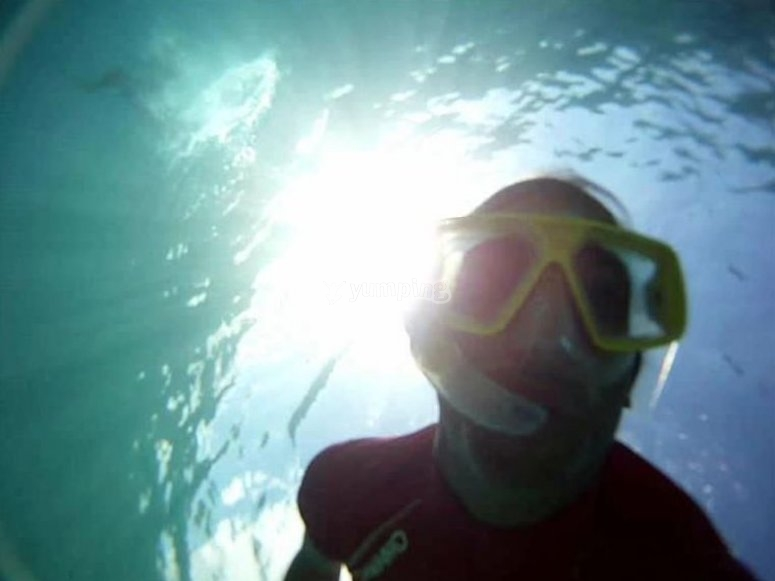 Sesión de snorkel en Menorca
