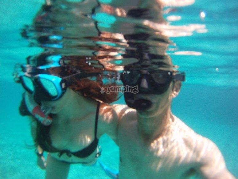 Snorkel en reserva marina de Menorca