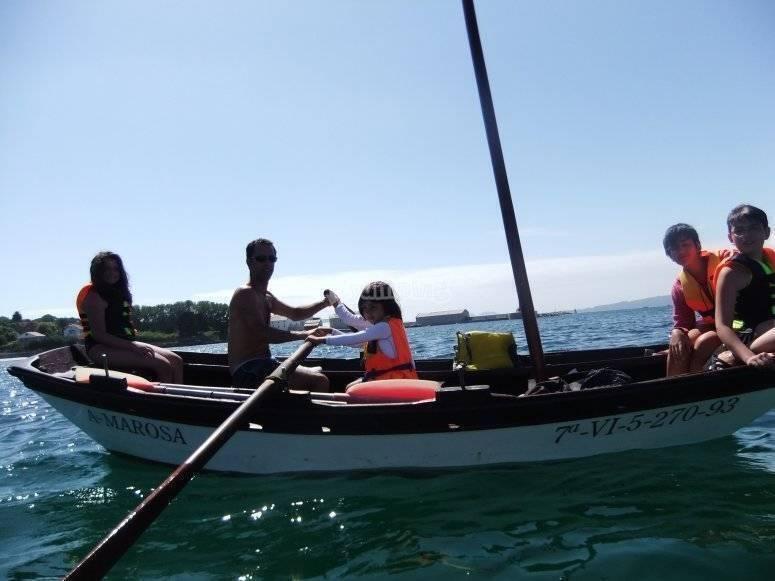 Paseando en la barca