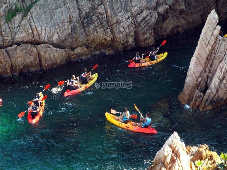 Excursión en kayak Costa Brava