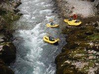 Canoa raft en Cantabria