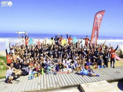 Campamento de surf en junio Playa de Razo, 6 días
