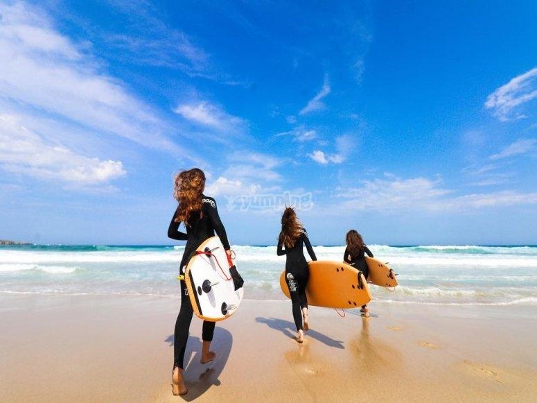 Campamento de surf en Carballo