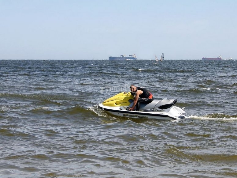 views from the jet ski