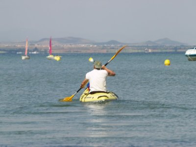 Two-seater kayak, Manga del Mar Menor, 1h
