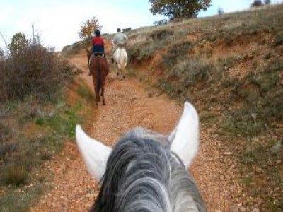 Bono 4 clases de equitación en Grajera