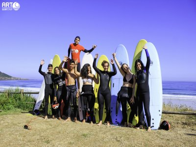 Campamento surf adultos en Carballo, julio, 6 días