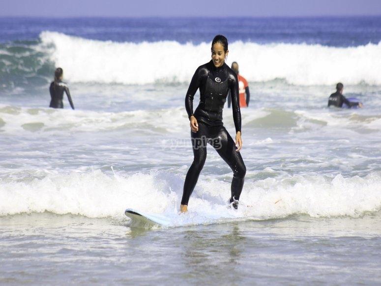 Campamento de surf para principiantes