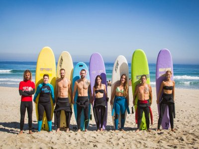 Surf camp for adults on Razo beach