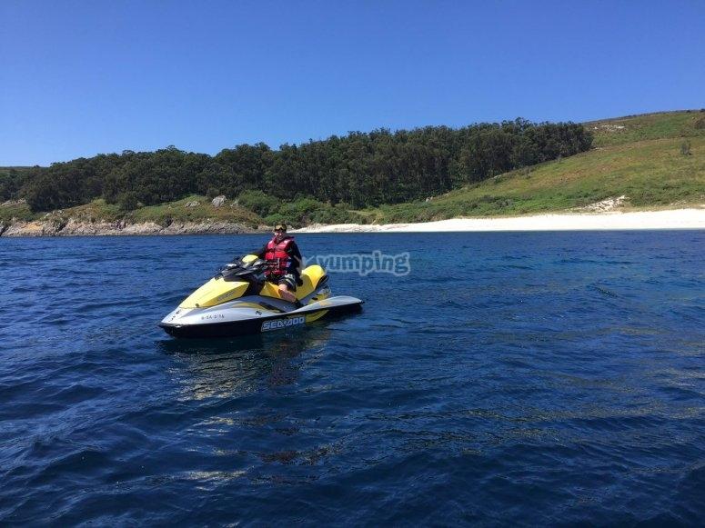 Paseo en moto acuatica