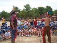 Actuacion indios y vaqueros