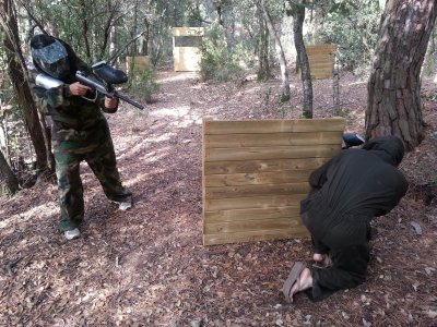 Paintball con 100 bolas Low Cost Dosrius